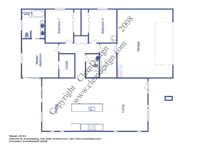 Link to the JC-53 modern house design floorplan