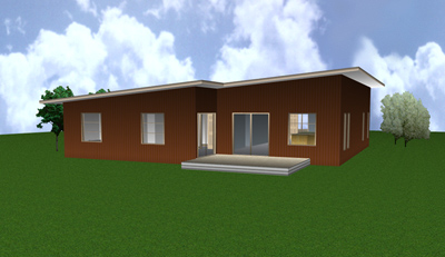 Link to the JC-53 modern house design 3d view 2